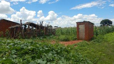 A typical pit latrine