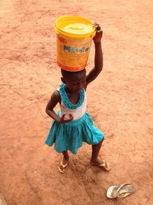Collecting water in Ghana. Photo credit: S Meyers