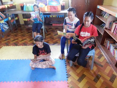 Saturday morning readers at the school library