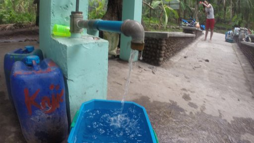A community water pump in the Philippines.