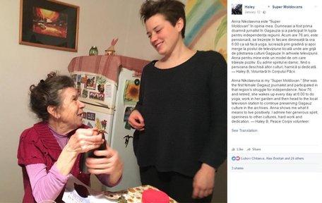 Volunteer Haley B. with her host mother Anna Nikolaevna.