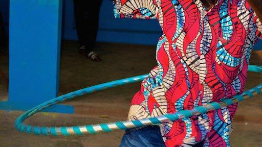 Hula hooping for HIV awareness