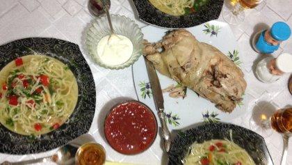 A homemade Moldovan meal