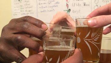 Enjoy moroccan mint tea