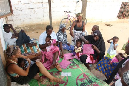 Making polypots in The Gambia