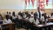 Joy in the classroom in Mozambique