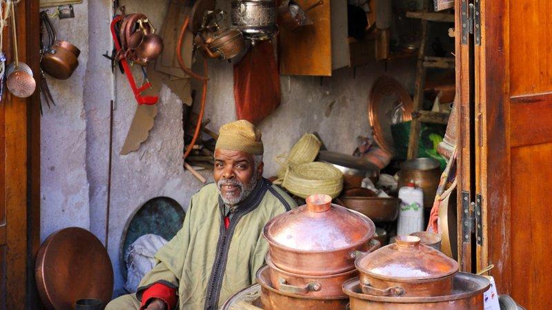 Morocco copper worker