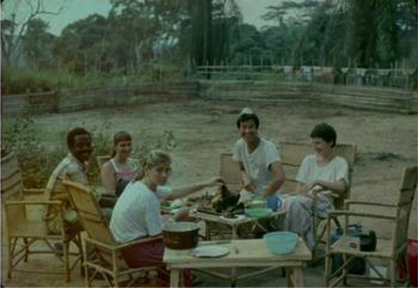 Dr. Theresa Good (far right) with other RPCVs in Zaire