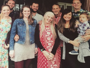 Marie Fitzsimmons and Kirk Peters with their family. Their daughter and her husband are currently in pre-service training in Uganda and will swear in in January 2018.