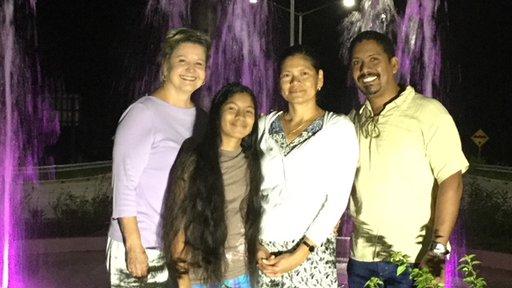 Jo Ann Jennings with her host family