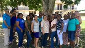 This photograph was taken during our summer teacher training session in the Dangriga, Stann Creek District. The teachers atte
