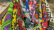Colorful cloth from a Liberian market