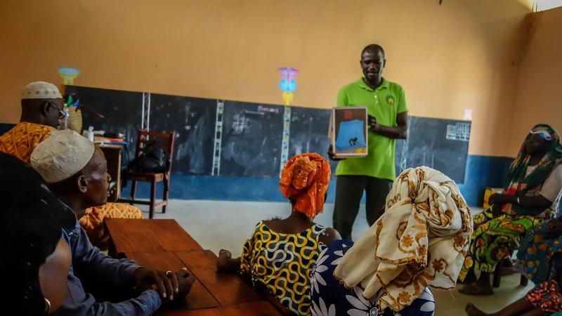 Malaria Sensibilisation, Nursery School, Northern Benin