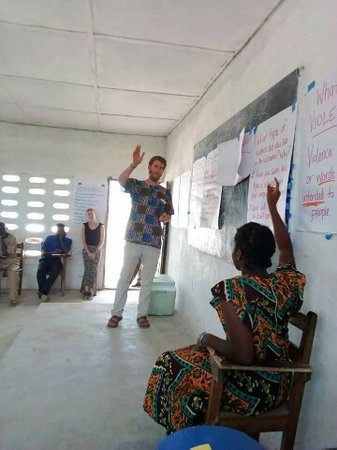 Volunteer leading a session