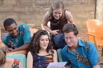 Kyree with his fellow Peace Corps Volunteers in Togo.