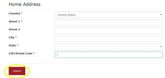 RPCV Portal update button