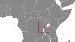 Rwanda country map