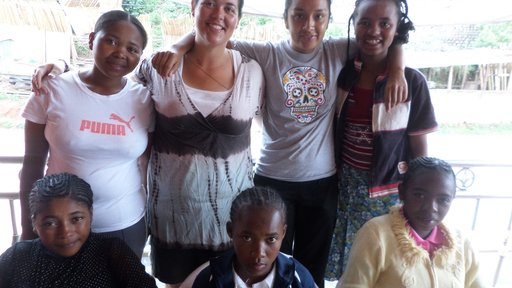 All the girls from my village for our GLOW camp.