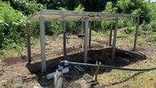 Solar panels and water pump