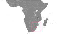Swaziland country map