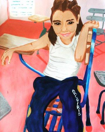 Saviera, the spunky daughter of my school's secretary.