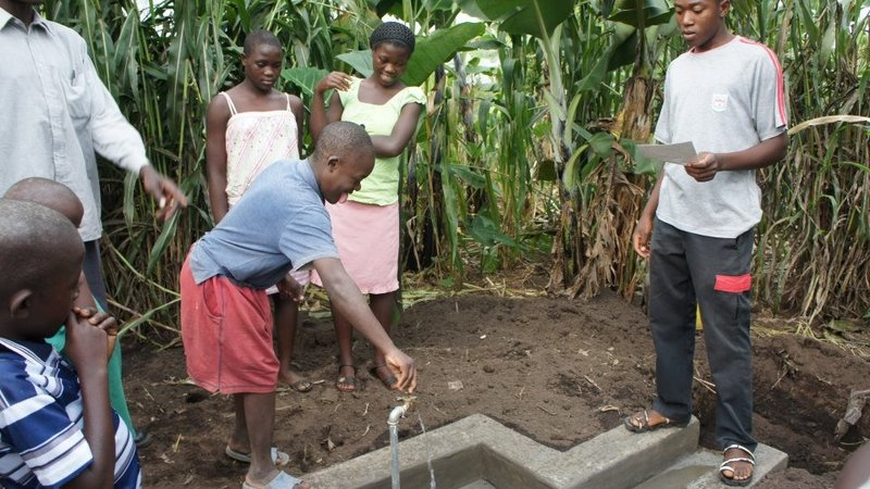 Tiffany Tai helped implement a water project in Uganda.