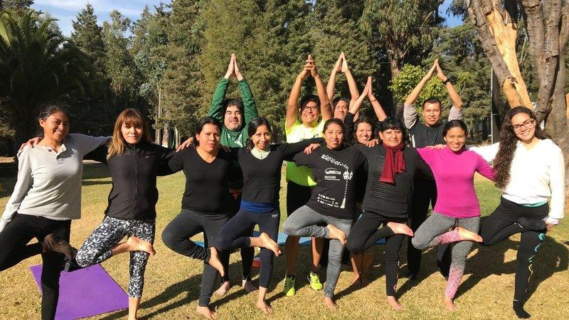 Doug yoga class