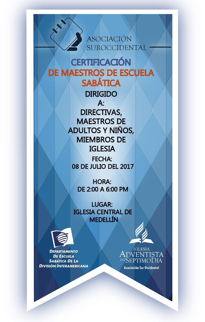 CERTIFICACIÓN DE MAESTROS DE ESCUELA SABATICA