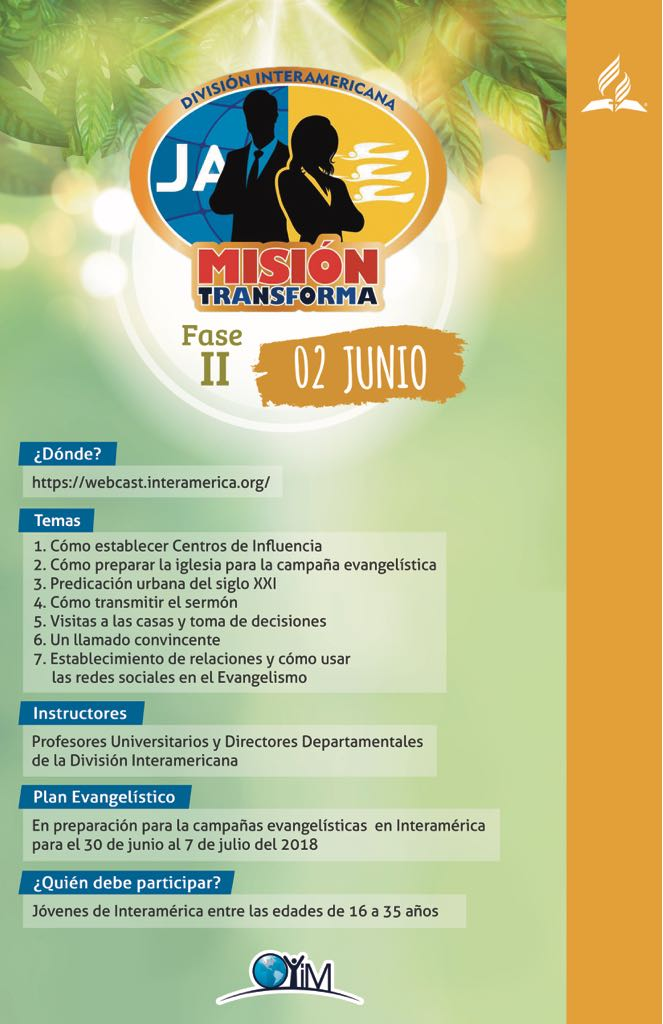 Misión Transforma 2018 - encuentro virtual.