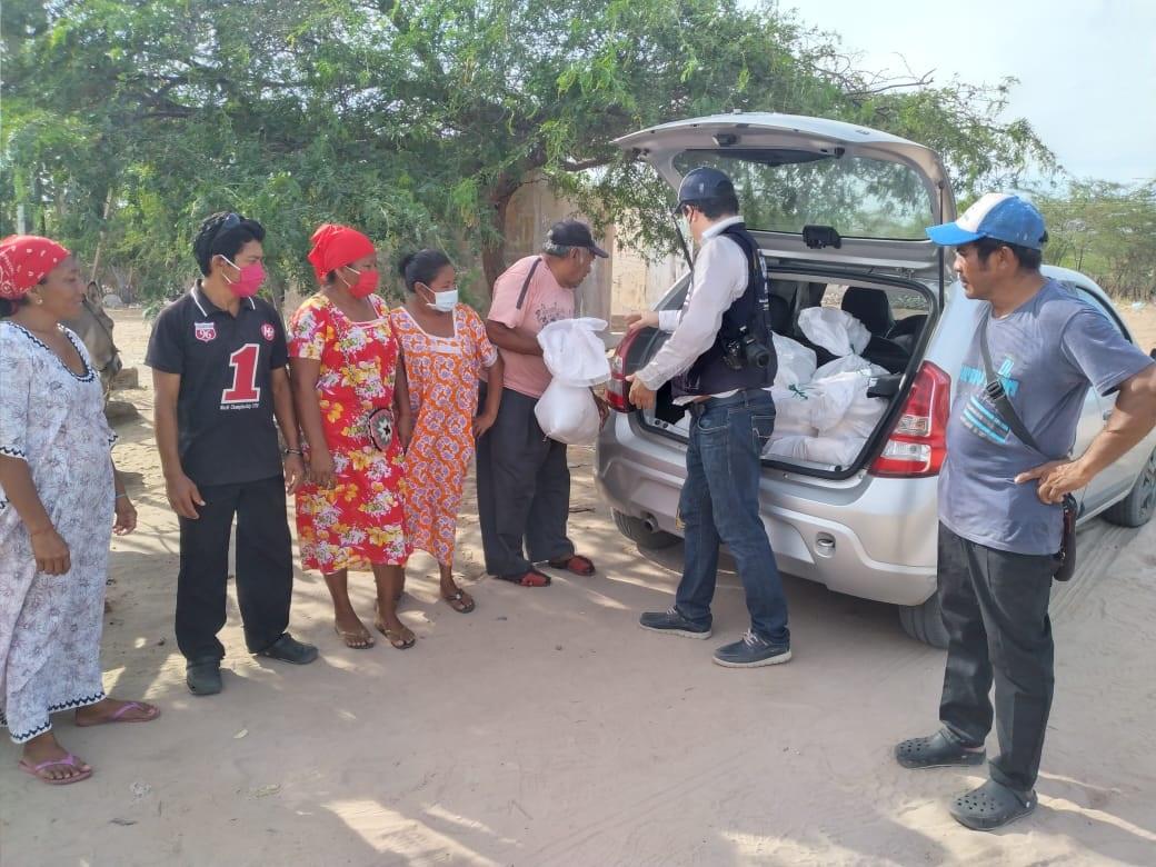 Decenas de familias de comunidades indígenas Wayúu han sido beneficiadas con mercados entregados por la  Iglesia Adventista