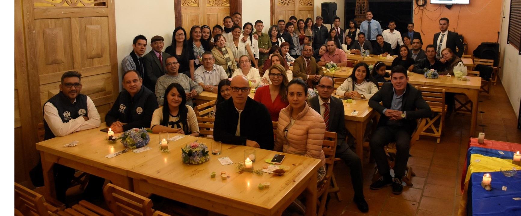 Miembros de la IASD en Antioquia realizaron una cena con sabor a solidaridad