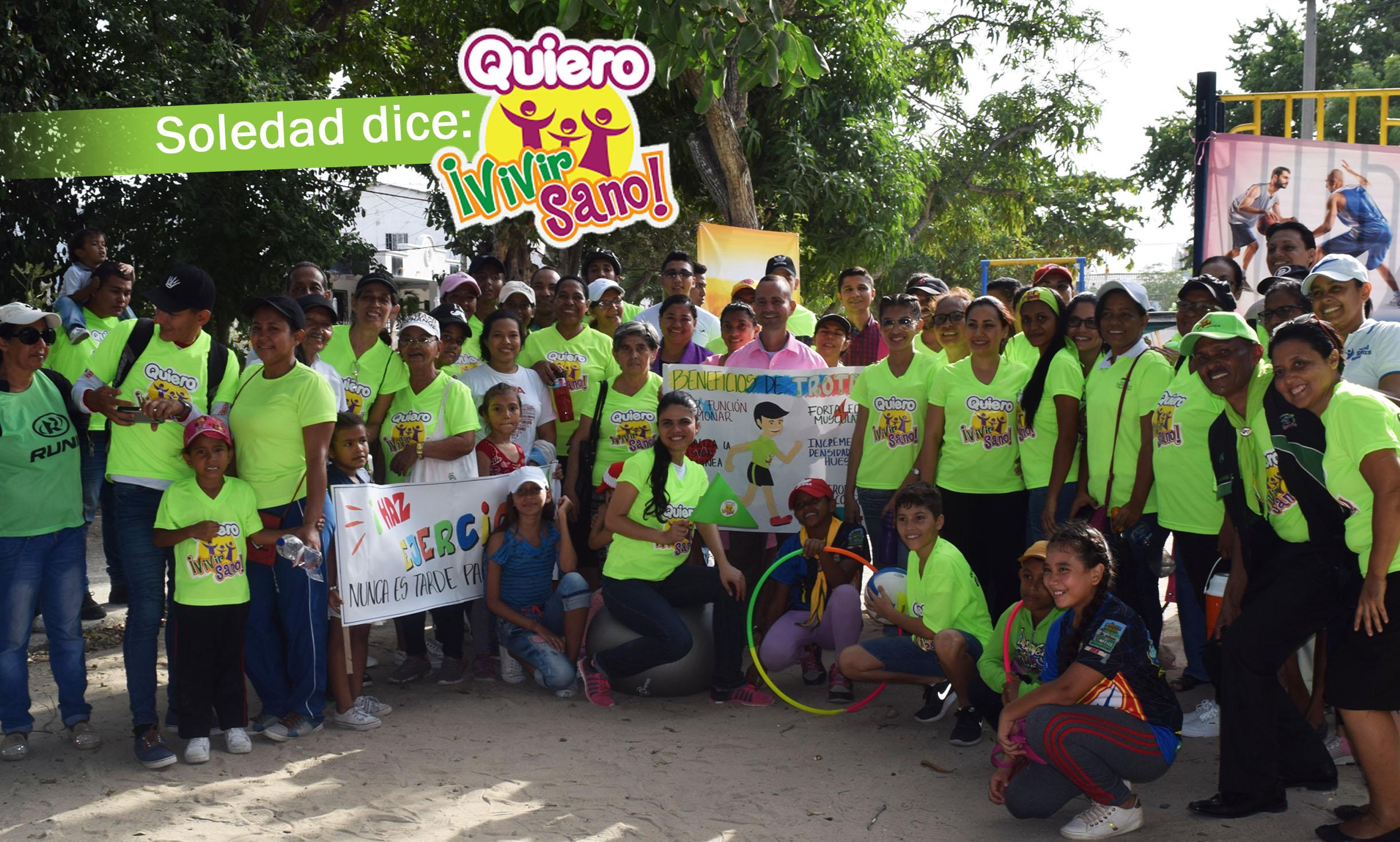 La iniciativa Quiero Vivir Sano llega a Soledad.