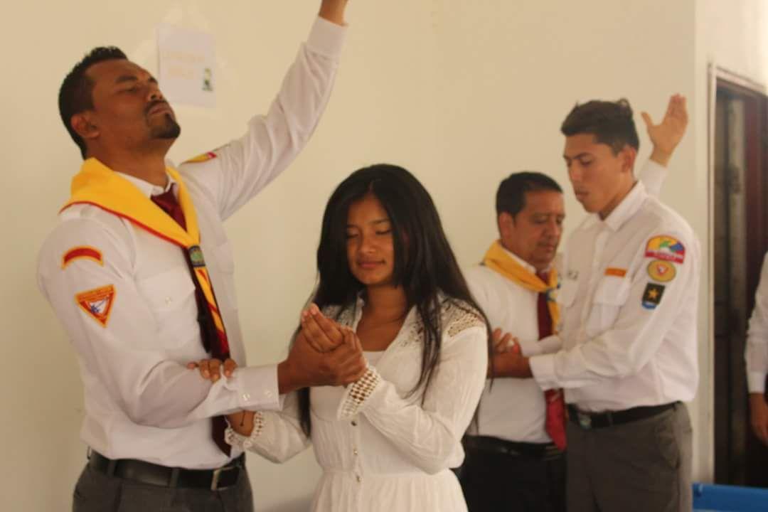 Campamentos Juveniles escenario para recibir más de  300 nuevos miembros de iglesia.