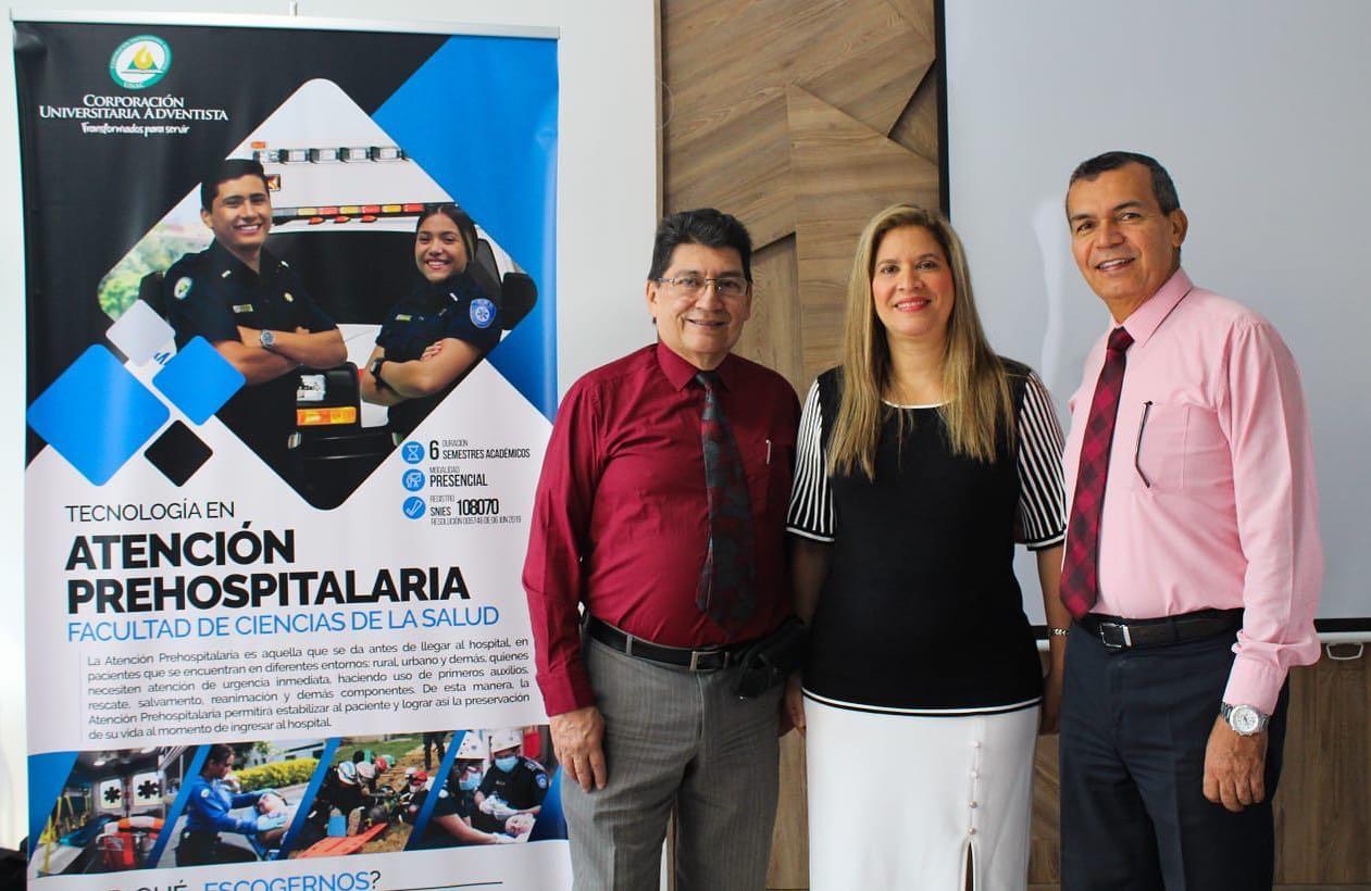La UNAC lanza programa de extensión en la ciudad de Bucaramanga, la tecnología en Atención Prehospitalaria