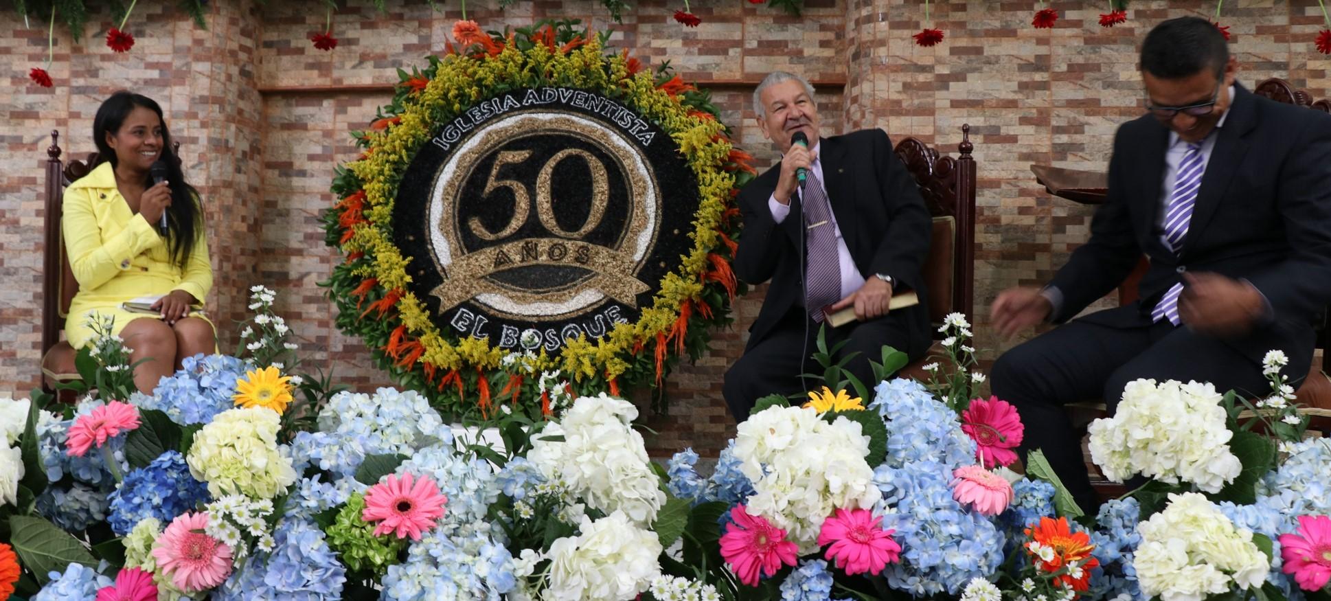 Iglesia Adventista El Bosque celebró su 50 aniversario