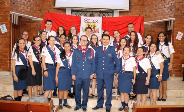 150 líderes de Bucaramanga inician clase de Guía Mayor de Aventurero