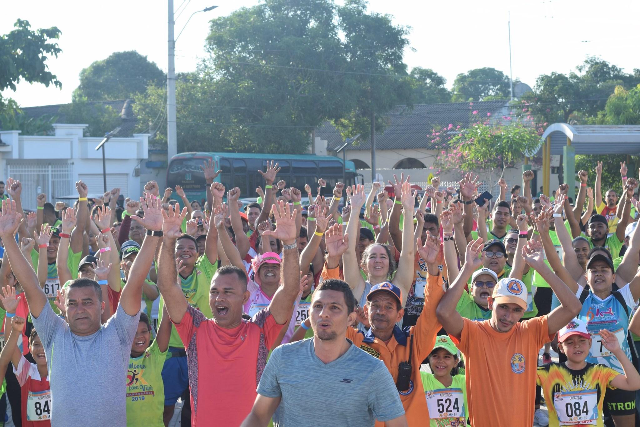 """""""A moverse para vivir"""" convocó a más de 800 personas en Sabanagrande"""