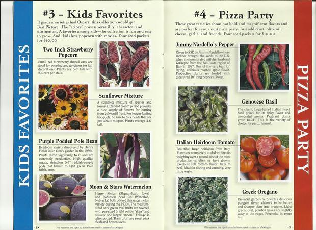 Heirloom Seed Collections to order