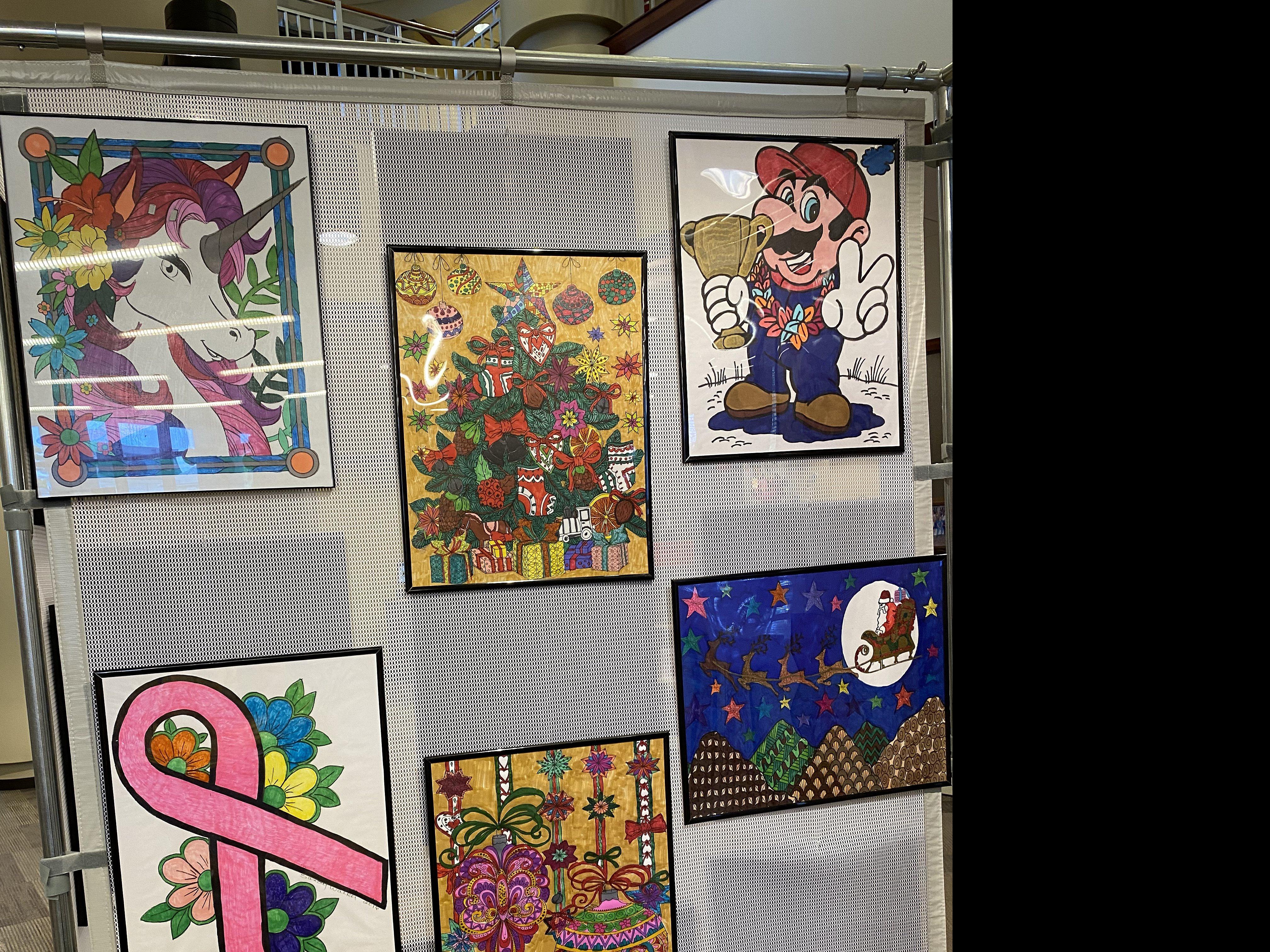 Linden library art show