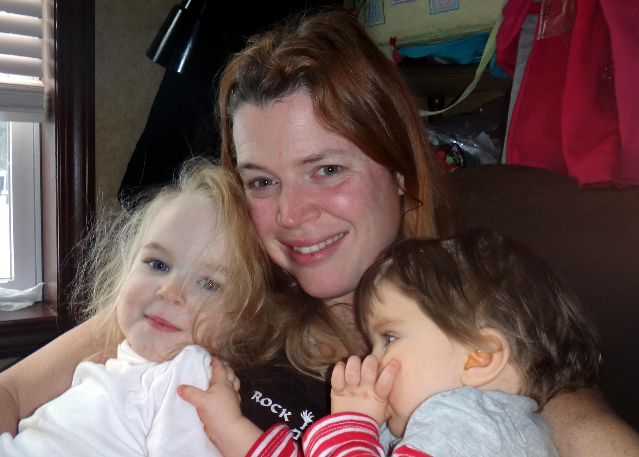 Kelly with kids