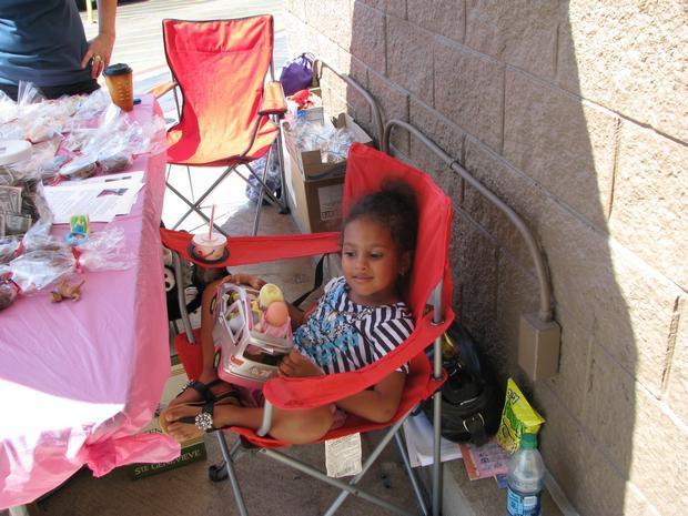 Cookie sale at Walmart, Round Rock, TX