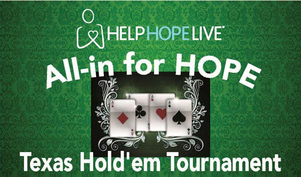 All-in for HOPE Texas Hold'em Poker Tournament