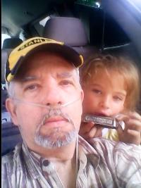 With granddaughter Jolene