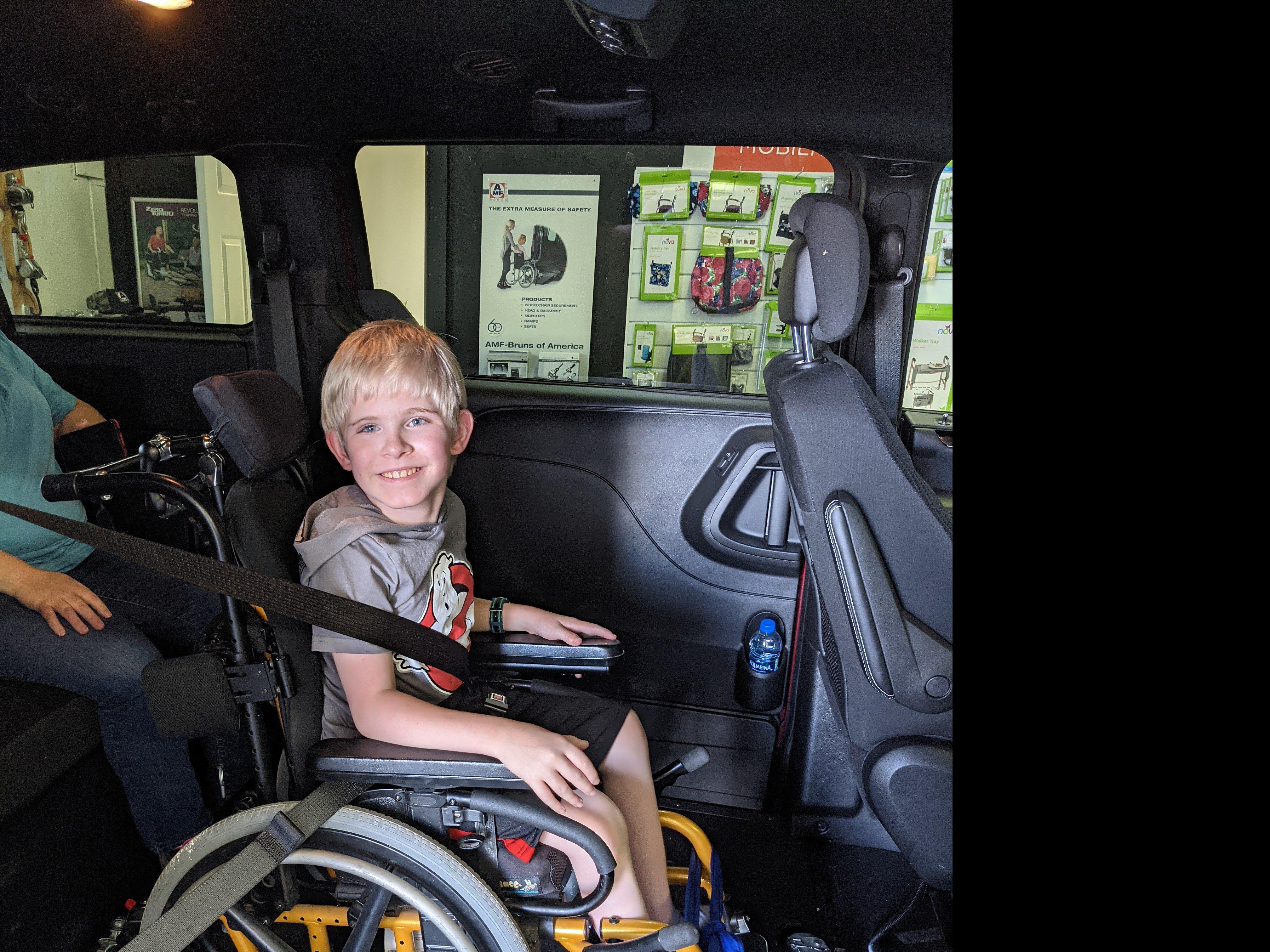 Patrick in a Wheelchair Van
