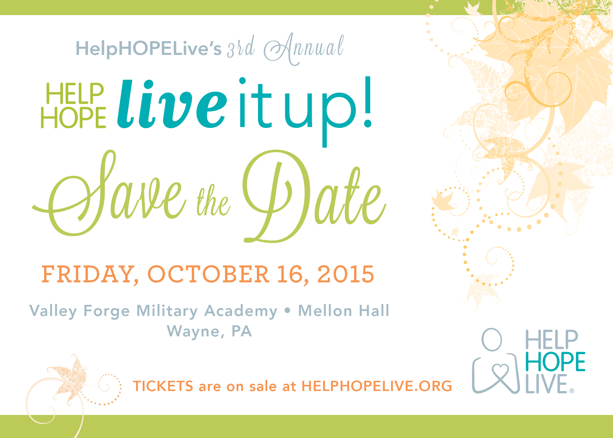 Save The Date for Live It Up! 2015