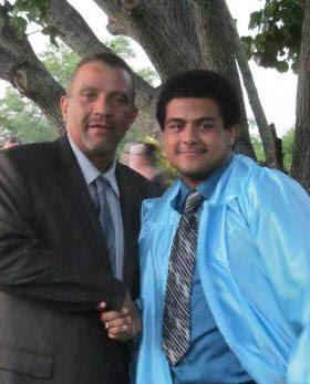 Simon with his son Zachary