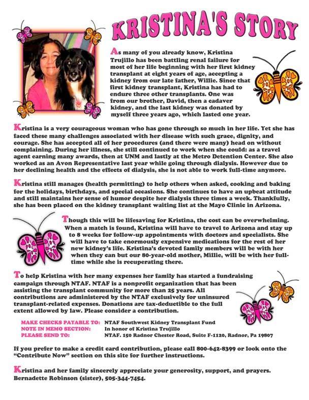 Kristina's Story - Printable Version