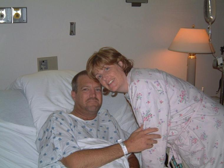 Hospital Pictures right after transplant