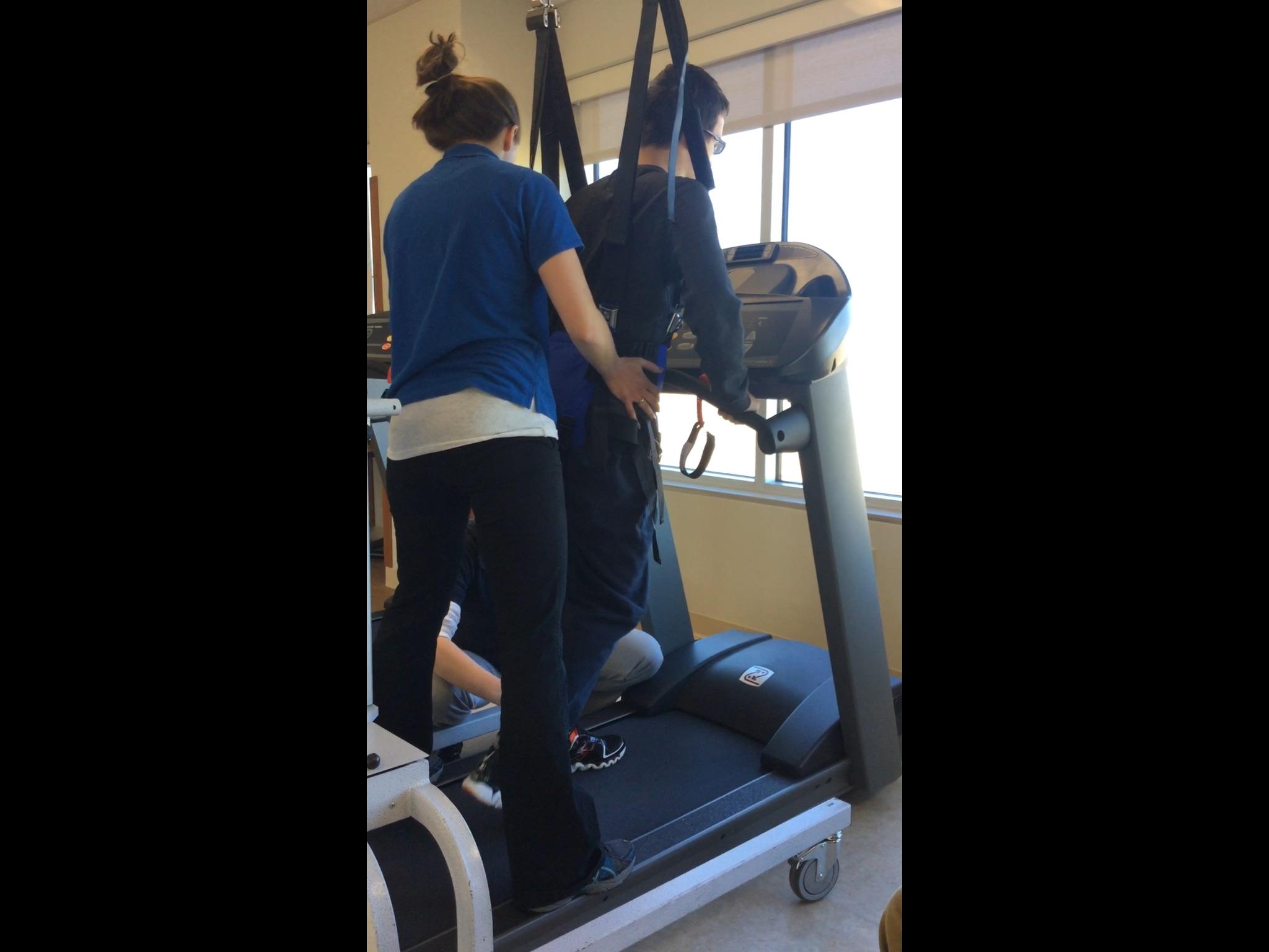 PT on the treadmill