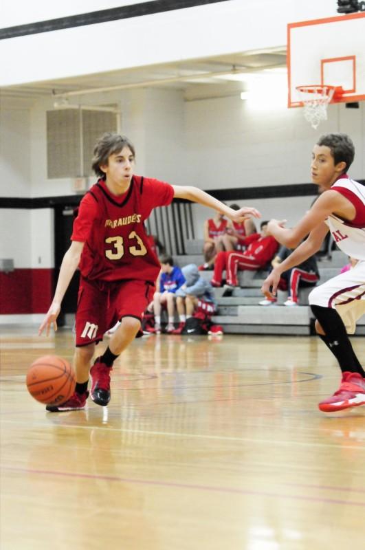 Nick playing Basketball
